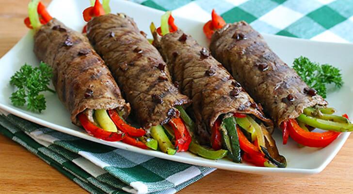 Sebzeli Biftek Sarması Tarifi