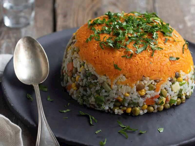 Yeşil Mercimekli Soğuk Pilav Salatası Tarifi