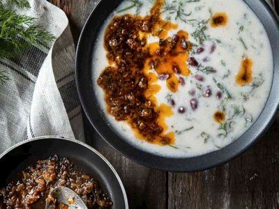 Yoğurtlu ve Fasulyeli Arapsaçı Çorbası Tarifi